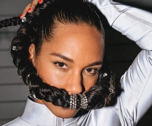 alicia keys, hair, and girl on fire image