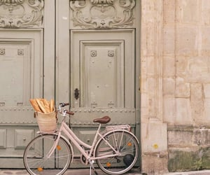 architecture, bicycle, and house image