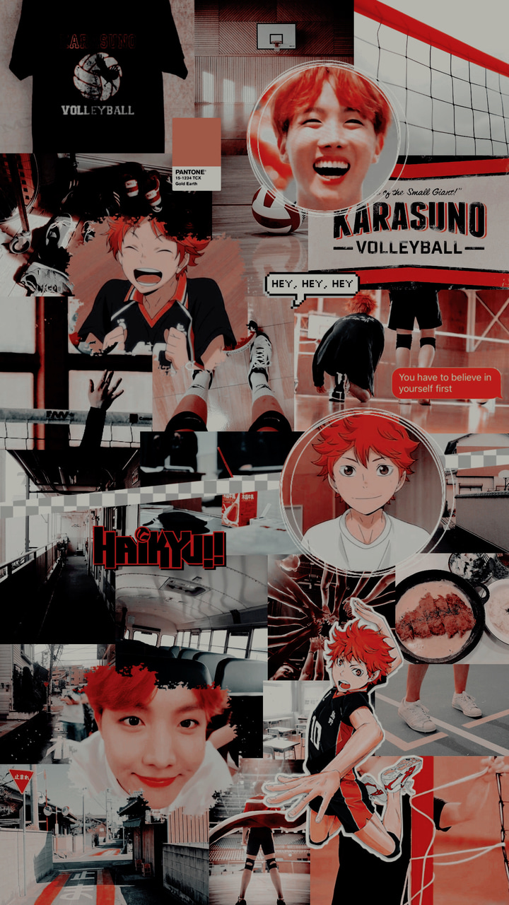Anime Collage Wallpaper Aesthetic Haikyuu Laptop