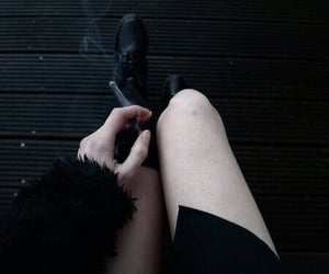 black, smoke, and grunge image