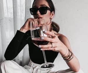 fashion, girl, and wine image