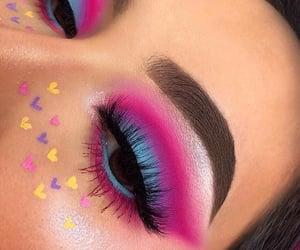 california, heart, and makeup image