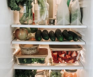 fridge, healthy, and strawberry image