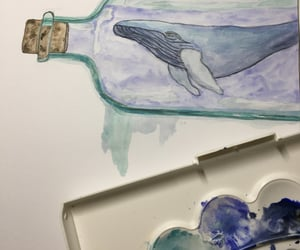 aquarell, art, and bottle image