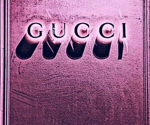 gucci, pink, and wallpaper image