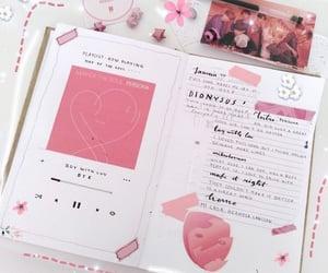 pink and writing image