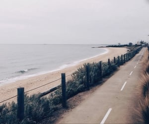 beach, road, and aesthetic image