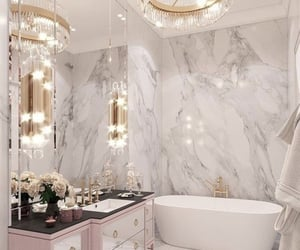 home, bathroom, and gold image