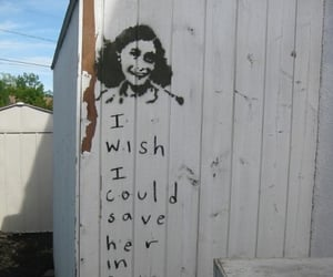 anne frank, quotes, and sad image