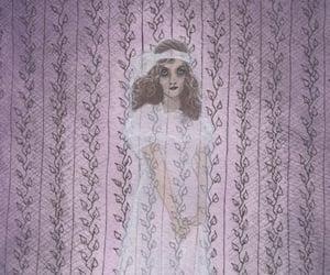 edward gorey, purple, and ghost image