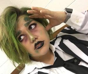 beetlejuice, makeup, and halloween makeup image