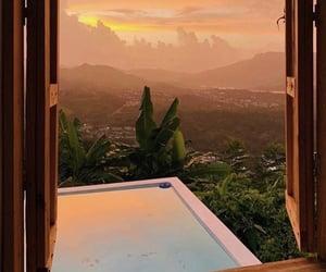 beautiful, sunset, and pool image