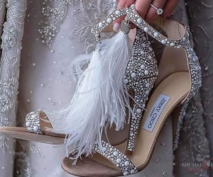 shoes, heels, and wedding image
