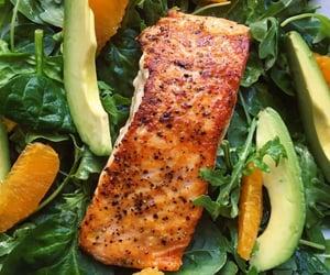 avocado, orange, and salad image