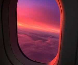 sky, soft, and sunset image