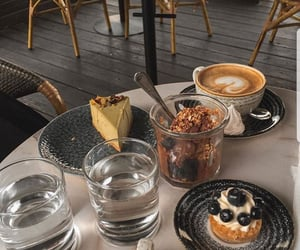 cafe, coffee, and pastry image
