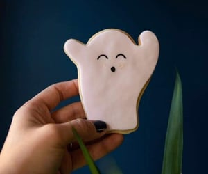 cookie, ghost, and Halloween image