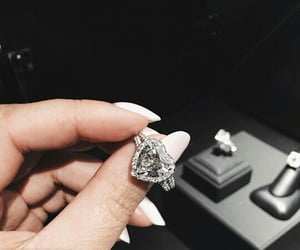 ring, nails, and diamond image