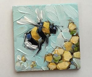 art, painting, and bee image