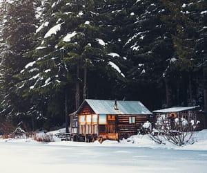 architecture, cabin, and canada image