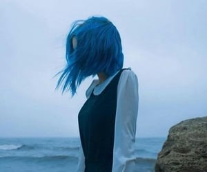 blue, hair, and lonely image