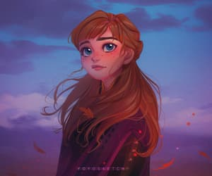 anna, frozen, and princess image