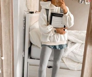 girl, outfit, and school image
