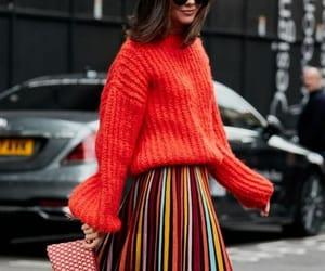 colourful, midi, and skirt image
