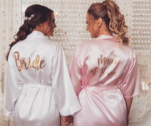 best friends, bride, and maid image