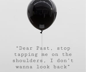 balloon, black and white, and feelings image