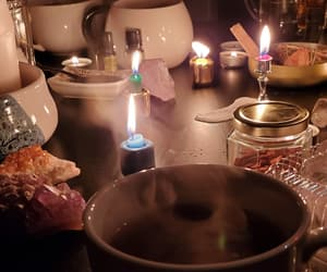 crystals, tea, and witchy image