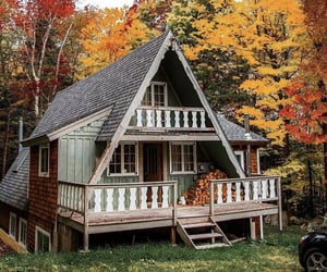 autumn, house, and peace image