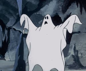 cartoon, childhood, and ghost image