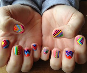 colorful, girl, and nails image