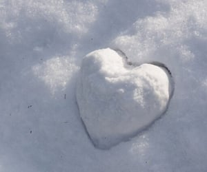 heart, snow, and aesthetic image