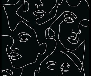 black, wallpaper, and face image