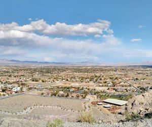 clouds, desert, and Las Vegas image