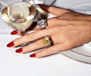 nails, red, and wine image