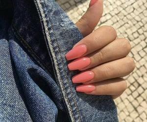 nails, pink, and acrylic image