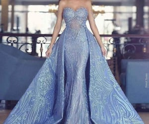 baby blue, dress, and red carpet image