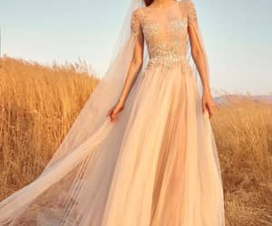 bridal, dress, and wedding dress image