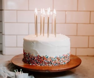 cake, candles, and birthday image