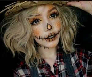 makeup, Halloween, and autumn image