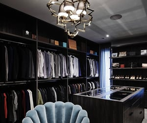 black, chair, and closet image