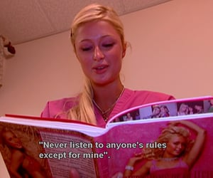 paris hilton, pink, and quotes image