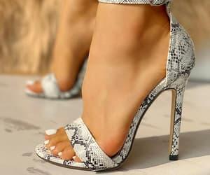 fashion, shoes, and snakeskin image