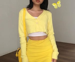 aesthetic, canary, and fashion image