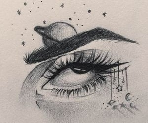 art, dessin, and yeux image