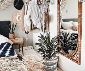 bedroom, boho, and interior image