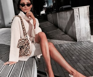 animal print, outfit, and sunglasses image